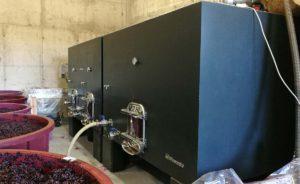 Instalación de depósitos de vino de hormigón